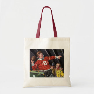 Vintage Father's Day, Sports Football Dad and Son Tote Bag