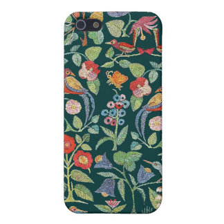 Vintage Faux Embroidery Bird Pattern iPhone Cover