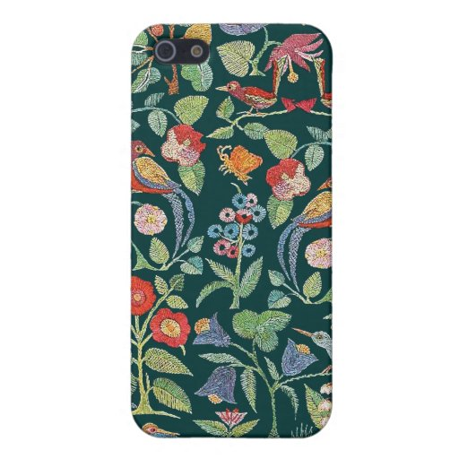 Vintage Faux Embroidery Bird Pattern iPhone Cover iPhone 5 Cover