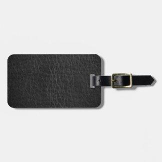 Vintage Faux Leather Bag Tag