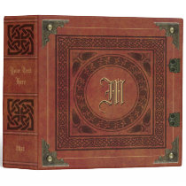 Vintage Faux Leather Celtic Knot Book Template 3 Ring Binder