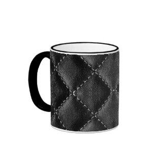 Vintage Faux Leather Coffee Mug