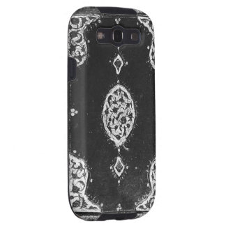 Vintage faux leather embellished book cover samsung galaxy s3 cover