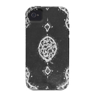Vintage faux leather embellished book cover case for the iPhone 4