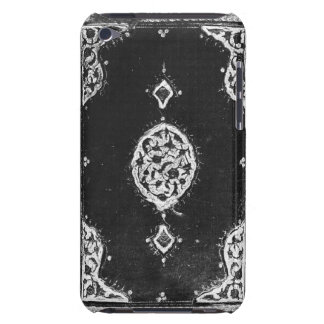 Vintage faux leather embellished book cover barely there iPod case