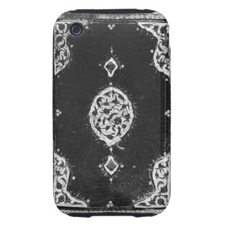 Vintage faux leather embellished book cover iPhone 3 tough covers