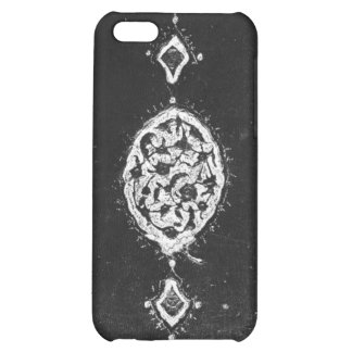Vintage faux leather embellished book cover iPhone 5C case