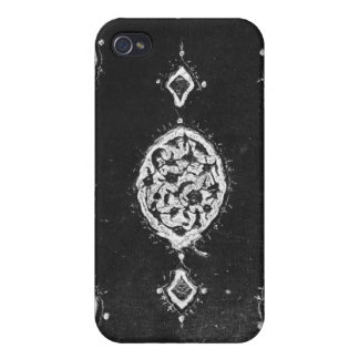Vintage faux leather embellished book cover iPhone 4 cover
