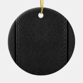 Vintage Faux Leather Christmas Ornament
