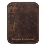 Vintage Faux Leather Personalized iPad Sleeve
