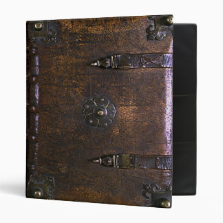 Vintage Faux Leather Print Gothic Binder