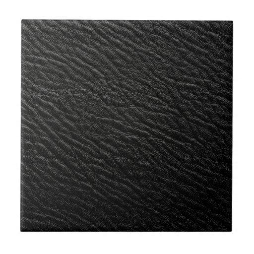Vintage faux leather small square tile zazzle for Faux leather floor tiles