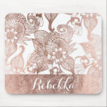 """Vintage Faux Rose Gold Rustic Floral Drawings Mouse Pad<br><div class=""""desc"""">This elegant and vintage faux printed rose gold rustic floral drawings is perfect for the trendy and stylish woman. It&amp;#39;s chic and pretty design is great for many gifts and occasions. Enjoy this beautiful and glamorous print for your next purchase!</div>"""