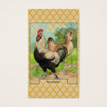 Vintage Faverolles Chicken Business Card