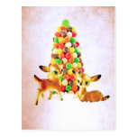 Vintage Fawns by Gumdrop Tree Post Card