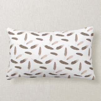 vintage feather pattern pillow