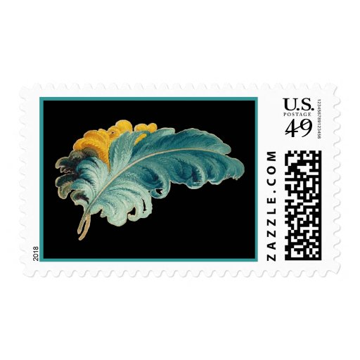 Vintage Feather Postage