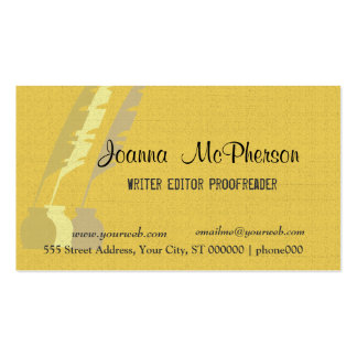 Vintage Feather Quill Ink History Writer Double-Sided Standard Business Cards (Pack Of 100)