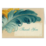 Vintage Feathers Greeting Card