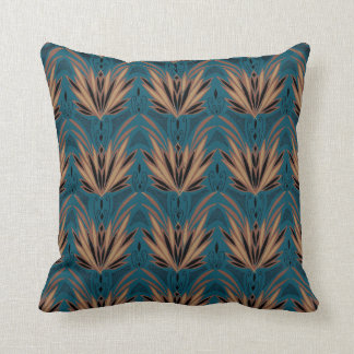 Vintage Feathery Art Deco Pattern Throw Pillow