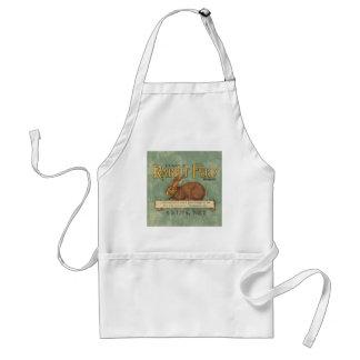 Vintage Feed Sack, Rabbit Feed Adult Apron