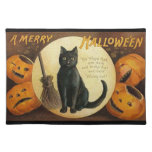 Vintage feliz Halloween Placemat Manteles Individuales