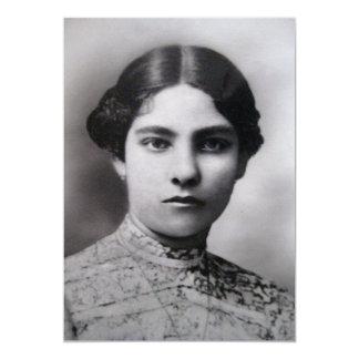 Vintage Female Portrait Card