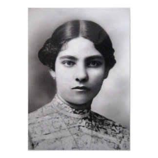 Vintage Female Portrait Personalized Invites