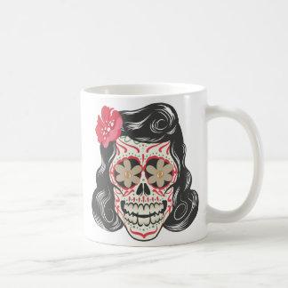 Vintage Female Skull Tattoo Coffee Mug