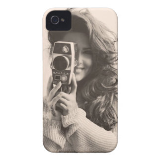 Vintage Female with Camera iPhone 4 Cover