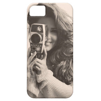 Vintage Female with Camera iPhone SE/5/5s Case