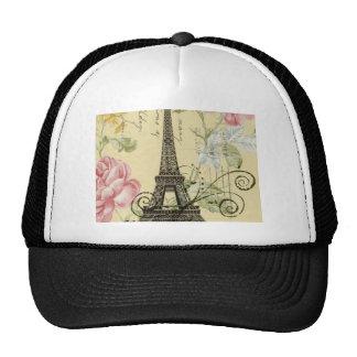 vintage femenino de la torre Eiffel de París de la Gorras