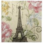 vintage femenino de la torre Eiffel de París de la Servilletas De Papel