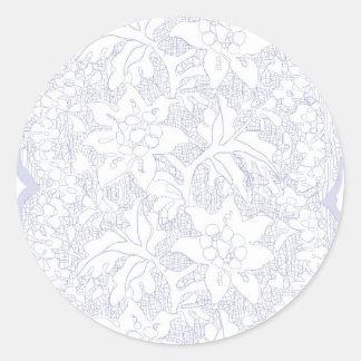 Vintage feminine lace round sticker