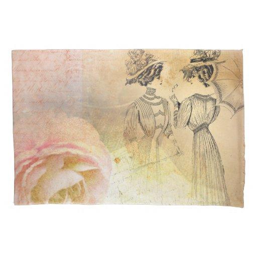 Vintage Femininity Pillow Case