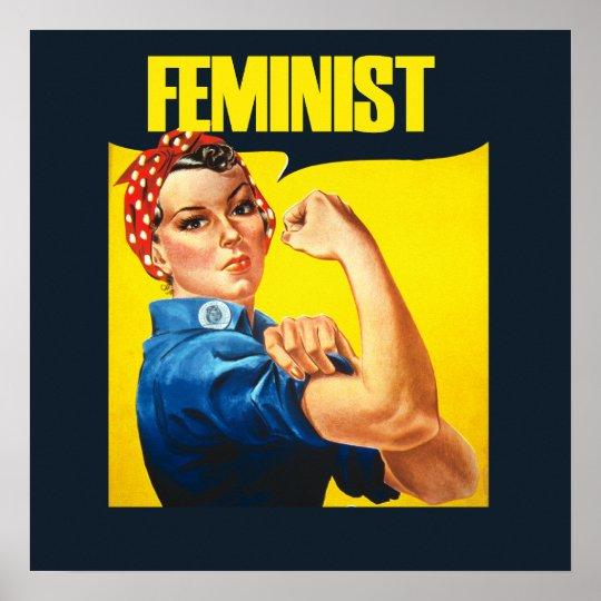 Vintage Feminist Rosie Riveter Poster