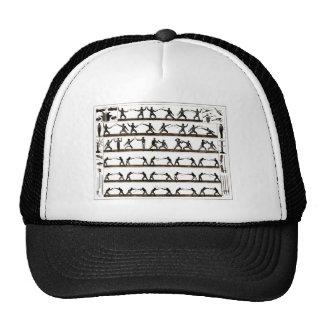 Vintage Fencing Instruction Mesh Hat