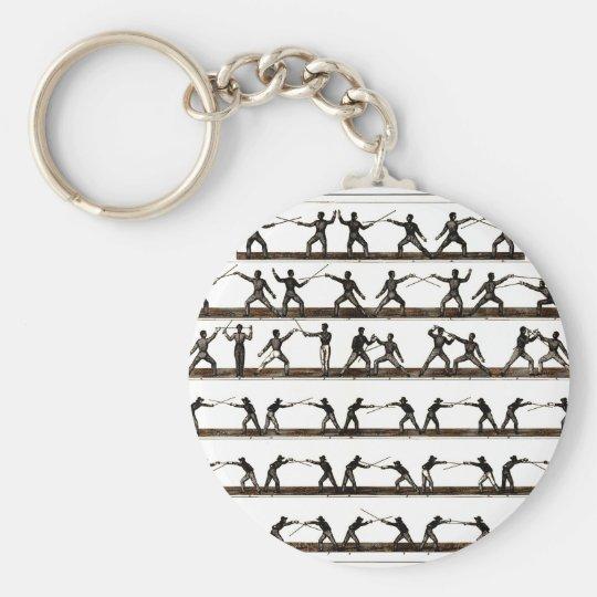 Vintage Fencing Instruction Keychain