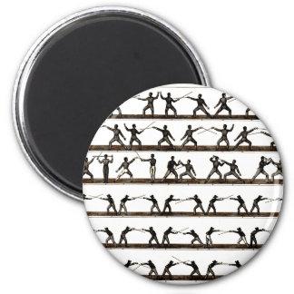 Vintage Fencing Instruction Fridge Magnet