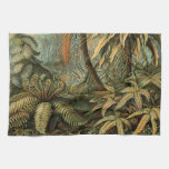 Vintage Ferns and Palm Tree Botanical Hand Towel