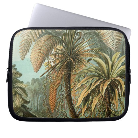 Vintage Ferns and Palm Tree Botanical Laptop Sleeve