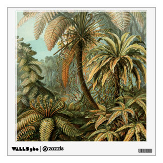 Vintage Ferns and Palm Tree Botanical Wall Decal
