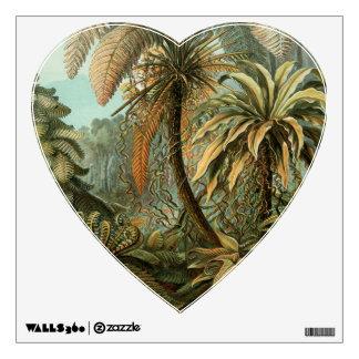 Vintage Ferns and Palm Tree Botanical Wall Skin