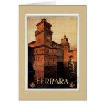 Vintage Ferrara Italian travel poster Card