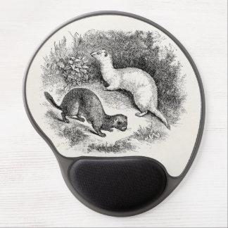 Vintage Ferret 1800s Ferrets Weasels Minks Gel Mouse Pad