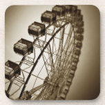 Vintage Ferris Wheel Beverage Coasters