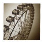 Vintage Ferris Wheel Ceramic Tiles