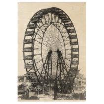 Vintage Ferris Wheel Chicago World's Fair