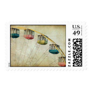 Vintage Ferris Wheel Postage