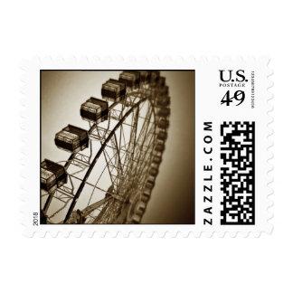 Vintage Ferris Wheel Postage Stamp